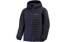 Columbia Women's Powerfly Down Hoodie abyss/hyper purple